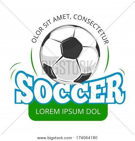 Football, soccer club vector logo, badge template. Label for sport league illustration