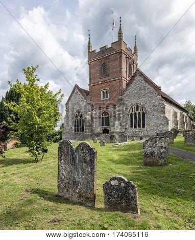 Beautiful old English churchyard