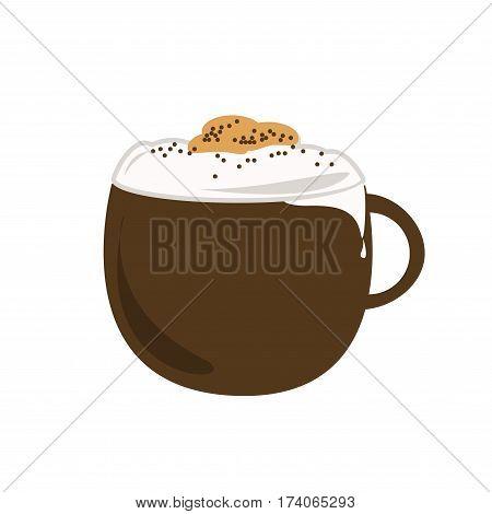 hot cappuccino , coffee icon set