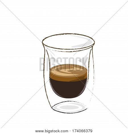 espresso shot, coffee icon set , hot