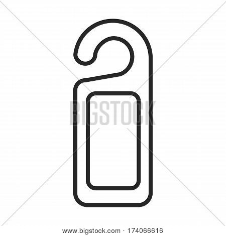 Tag on the door vector icon in simple outline style. These icons are perfect for your websites and applications. All icons in the vector and you can easily change the color and size.