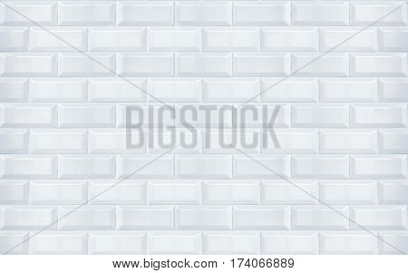 White clean shiny ceramic tiles texture closeup