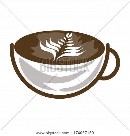 hot latte ,coffee icon set , hot
