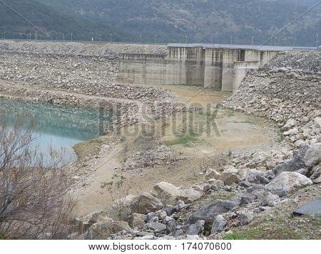 Exposed Sluices In Reservoir