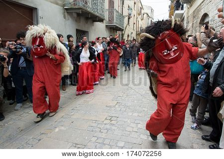 PRIZZI ITALY - April 20 2014: Holy Week in Sicily. Traditional Festival