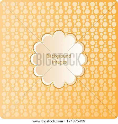 Bright orange background. Vector Image. Composition minimalist textures. Circles of different sizes. Dotted regular simple prints. Modern graphic design.