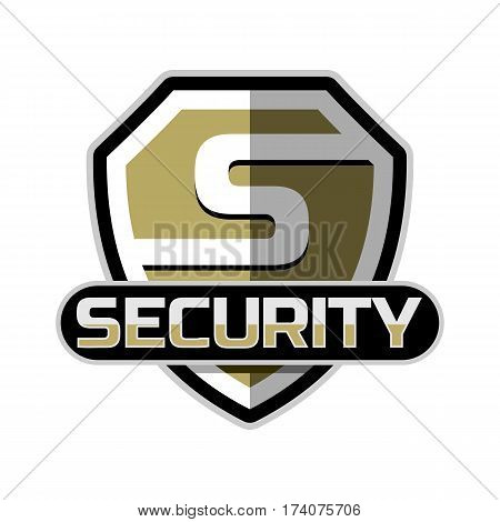 security logo icon badge emblem vector template .