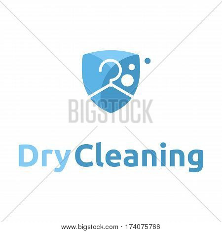 dry cleaning logo icon badge emblem .