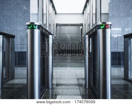 Entrance gate card Access Security system Office building