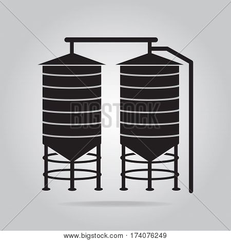 Agricultural silo icon, silo sign vector illustration
