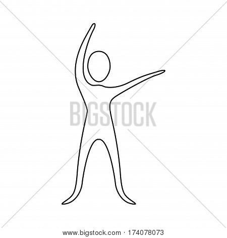 figure person stretching icon, vector illustraction design image