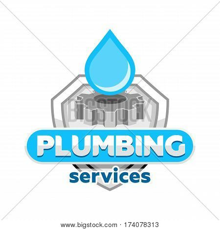 plumbing service logo icon badge emblem vector