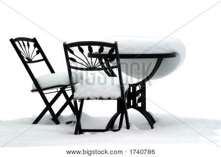 Bistro Set On White