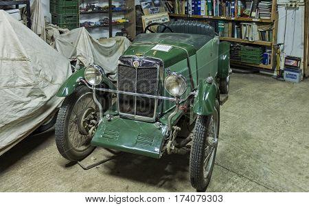 Vintage 1930 Mg M-type Sports Car