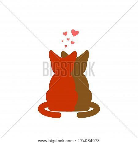 Cat Lovers Embrace. Pet Lover Cuddle. Romantic Date. Cats Lifestyle