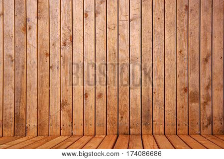 Wooden 3d space background for product placement