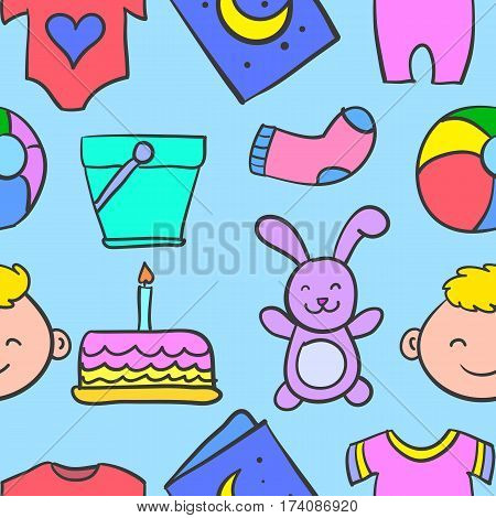 Doodle of baby vector art illustration collection stock