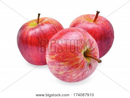 fresh gala apples isolated on white background