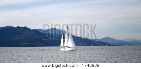 Yacht In Pacific Ocean