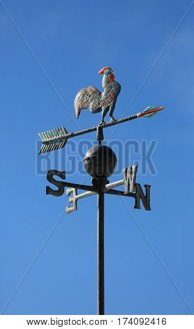 Weather Vane To Indicate The Wind Direction With A Rooster In Wr
