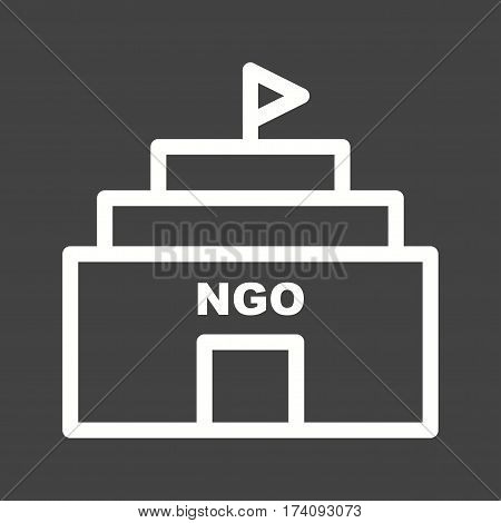 Organization, building, nonprofits icon vector image. Can also be used for community. Suitable for mobile apps, web apps and print media.