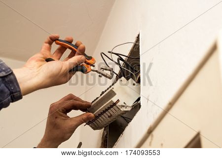 Flat Renovation, Changing The Old Electrical Installation, Implementation Of New Power Cords