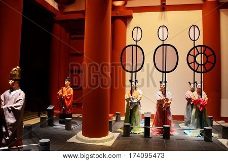 Statue Inside Of Osaka Museum Of History Or Osaka Rekishi Hakubutsukan For People Travel
