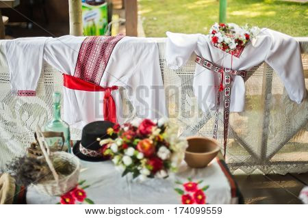 beautiful wedding decorations in national style decoration,