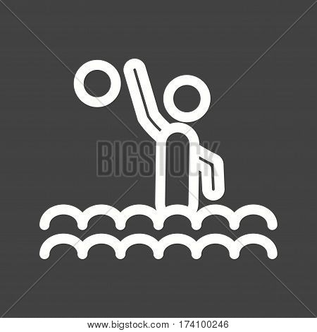Water, polo, olympic icon vector image. Can also be used for olympics. Suitable for mobile apps, web apps and print media.