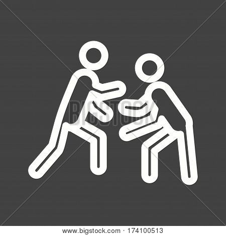 Wrestling, olympics, international icon vector image. Can also be used for olympics. Suitable for mobile apps, web apps and print media.
