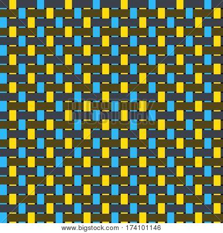 Intertwined Fiber Vector Texture. Seamless Canvas Pattern