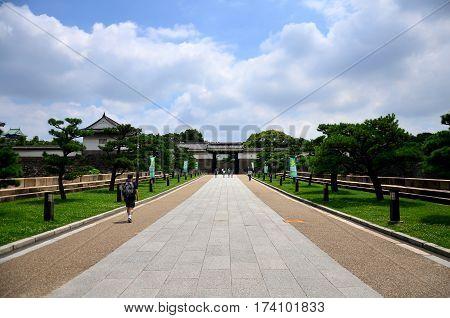 Japanese People And Traveler Foreigner Walking To Inside Osaka Castle Travel And Visit Osaka Castle