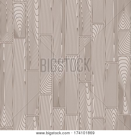 Seamless grey and taupe linear wooden planks pattern
