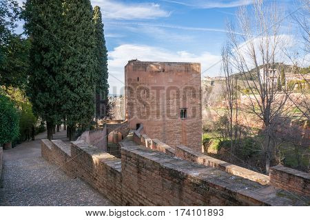 The Tower of the Captive in the Alhambra in Spain