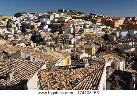 Cuenca (Castilla-La Mancha Spain) view of the older part of the city