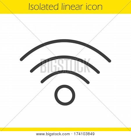 Wi fi signal linear icon. Thin line illustration. Wifi connection contour symbol. Vector isolated outline drawing