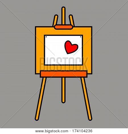 easel vector canvas artist art board wood billboard white blank sign