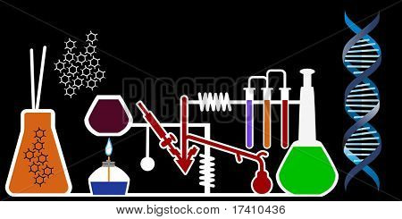 lab with dna