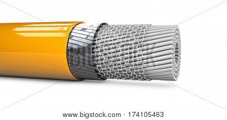 3d Illustaration of Abstract nano tube structure.