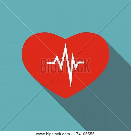 Cardiology icon. Flat illustration of cardiology vector icon for web