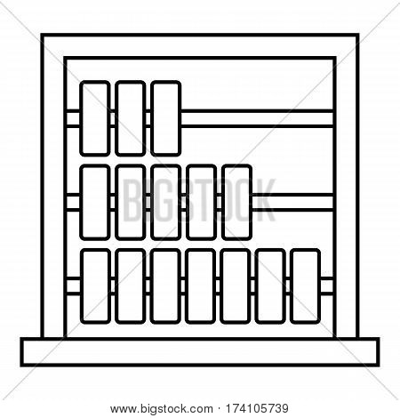 Children abacus icon. Outline illustration of children abacus vector icon for web