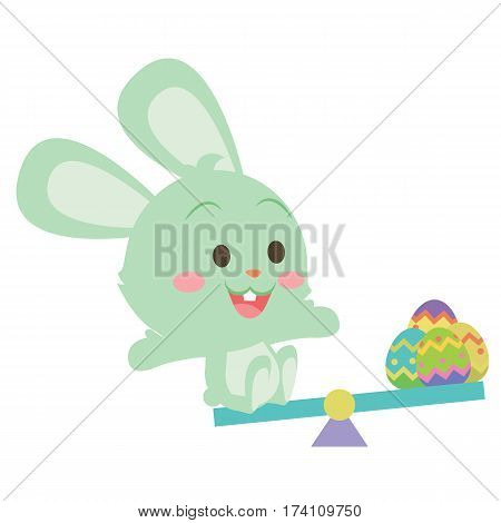 Easter bunny and easter egg design vector collection