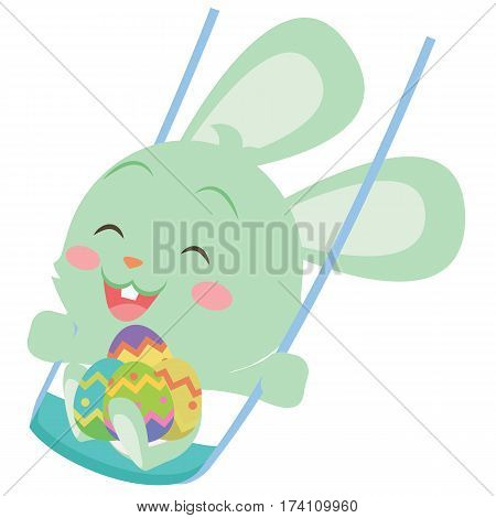 Happy easter bunny design vector art collection stock