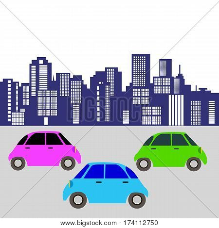 car toy vector automobile auto vehicle icon cartoon illustration wheel transport city cars on the road the car in city