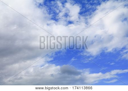 blue sky with cloud and raincloud the art of nature beautiful and copy space for add text