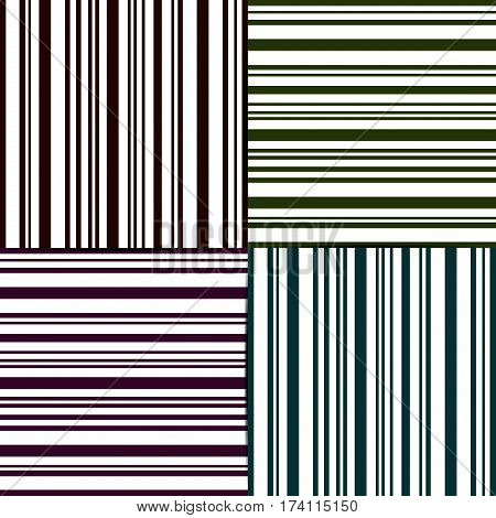 set of Pattern stripe seamless brown colors design for fabric textile fashion striped pattern design pillow case line gift wrapping paper seamless pattern. Geometric stripe abstract background vector.