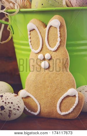 Happy Easter Gingerbread Cookie Bunnies