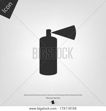 Aerosol icon, gray background. Vector illustration .