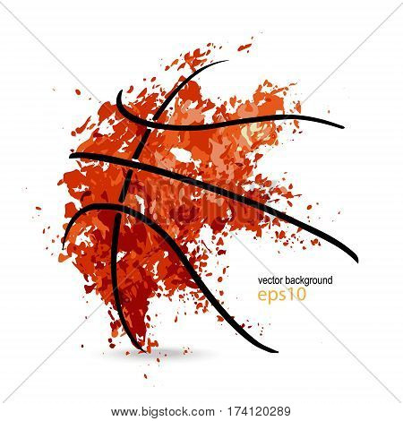 abstract background basketball symbol grunge ball black lines