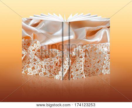 Book Of A Background Fabric
